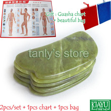 Free shipping! Natural Glaze Jade Massage Tool Guasha Beauty Board 2pieces/lot  (new yunabao shape)