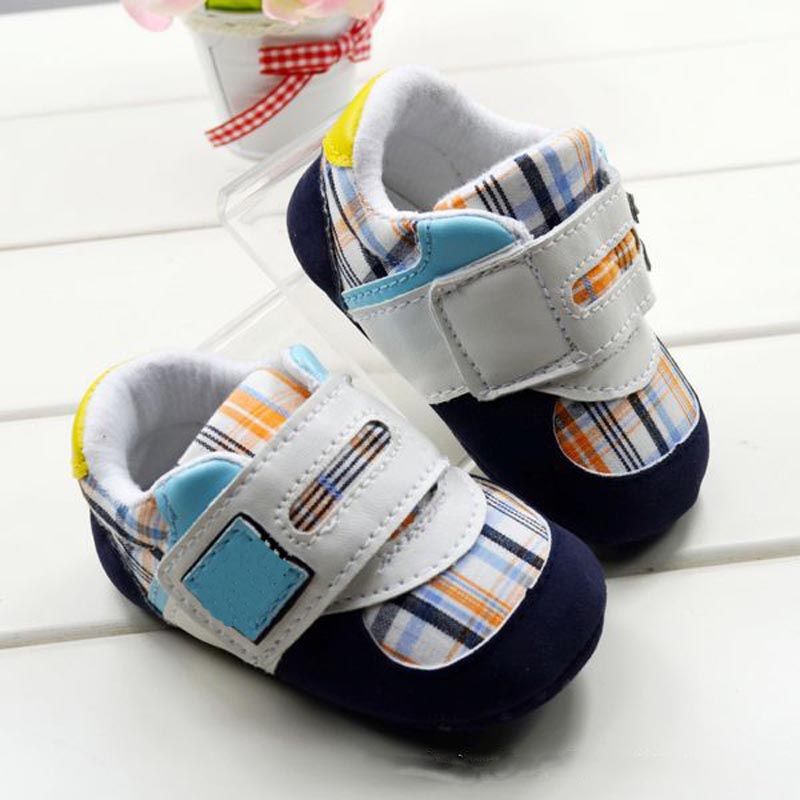 Plaid z baby shoes soft sole toddler shoes new fashion baby first walkers shoes