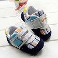 Z a cuadros zapatos de bebé suaves únicos zapatos del niño nuevo bebé de la manera primero zapatos de los caminante