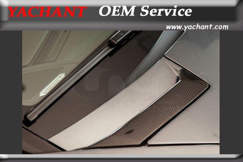Car Styling Auto Accessories Dry Carbon Fiber Hood Vents 2pcs Fit For 2011 2014 Aventador LP700 OEM Style Front Hood Vents