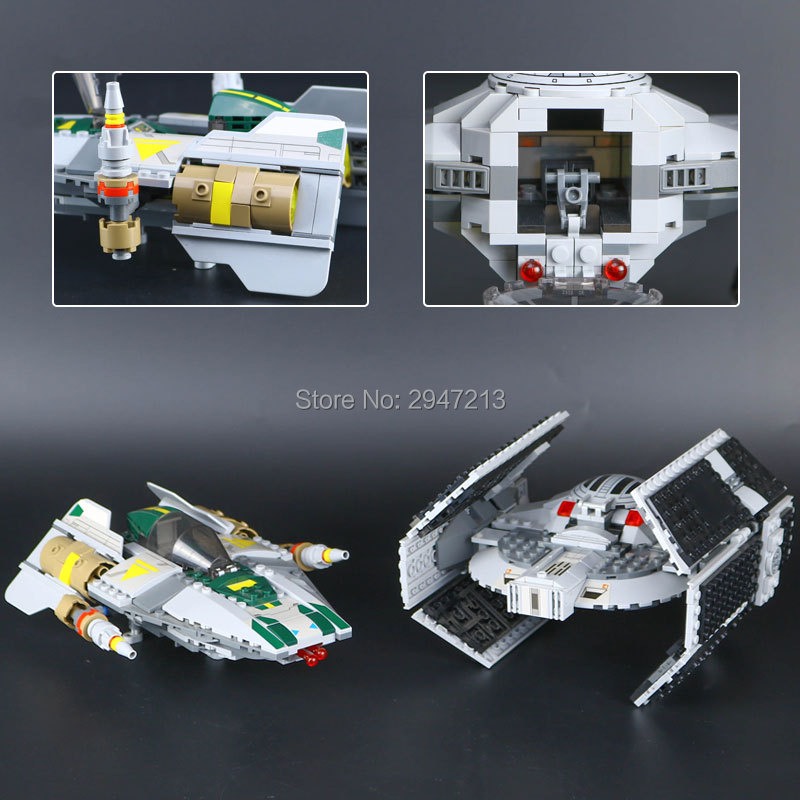 compatible LegoINGlys Star Wars series Building Blocks darth vader tie advanced starfighter vs - wing brick toys for Children ksz star wars minifig darth vader white storm trooper general grievous figure toys building blocks