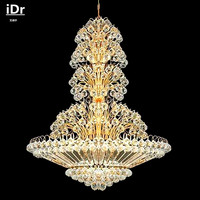 Gold Crystal Chandelier Lighting Hanging Metal Chandelier Lamp Living Room Crystal Chandelier Light A9184 70cm W
