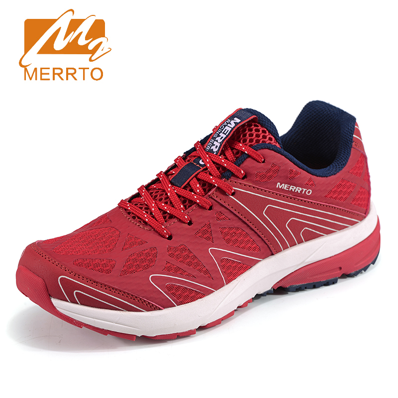 2017 Merrto Mens Trail Running Shoes Breathable Mesh Outdoor Sport Shoes Light Weight Travel Shoes For Men Free Shipping MT18659