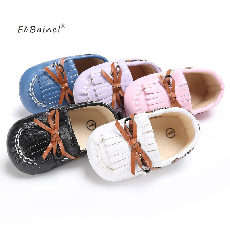 E&Bainel Baby Moccasins Tassels Baby Shoes Newborn Baby Boy Shoes PU Leather First Walkers Prewalkers