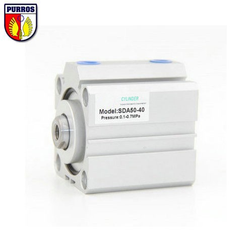 SDA80 Compact Cylinder, Bore: 80mm, Stroke: 75/80/85/90/95/100mm