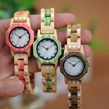 relogio feminino BOBO BIRD Wooden Women Watches Timepieces 27mm Small Luxury Women Quartz Watches Ideal Gifts for Girls  W-Q02