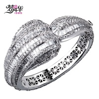 New Luxury Design Cute Bangle AAA Top Grade Cubic Zirconia Crystal Allergy Free Plating Wedding Party