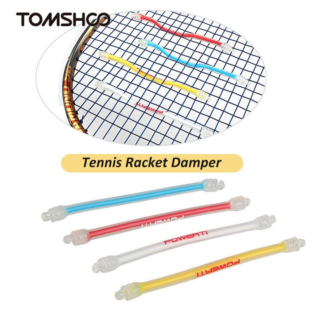 1Pcs Tennis Racket Damper Shock Absorber Silicone Tennis Bat Vibration Absorbing Shock Reducing Anti-Slip Strips