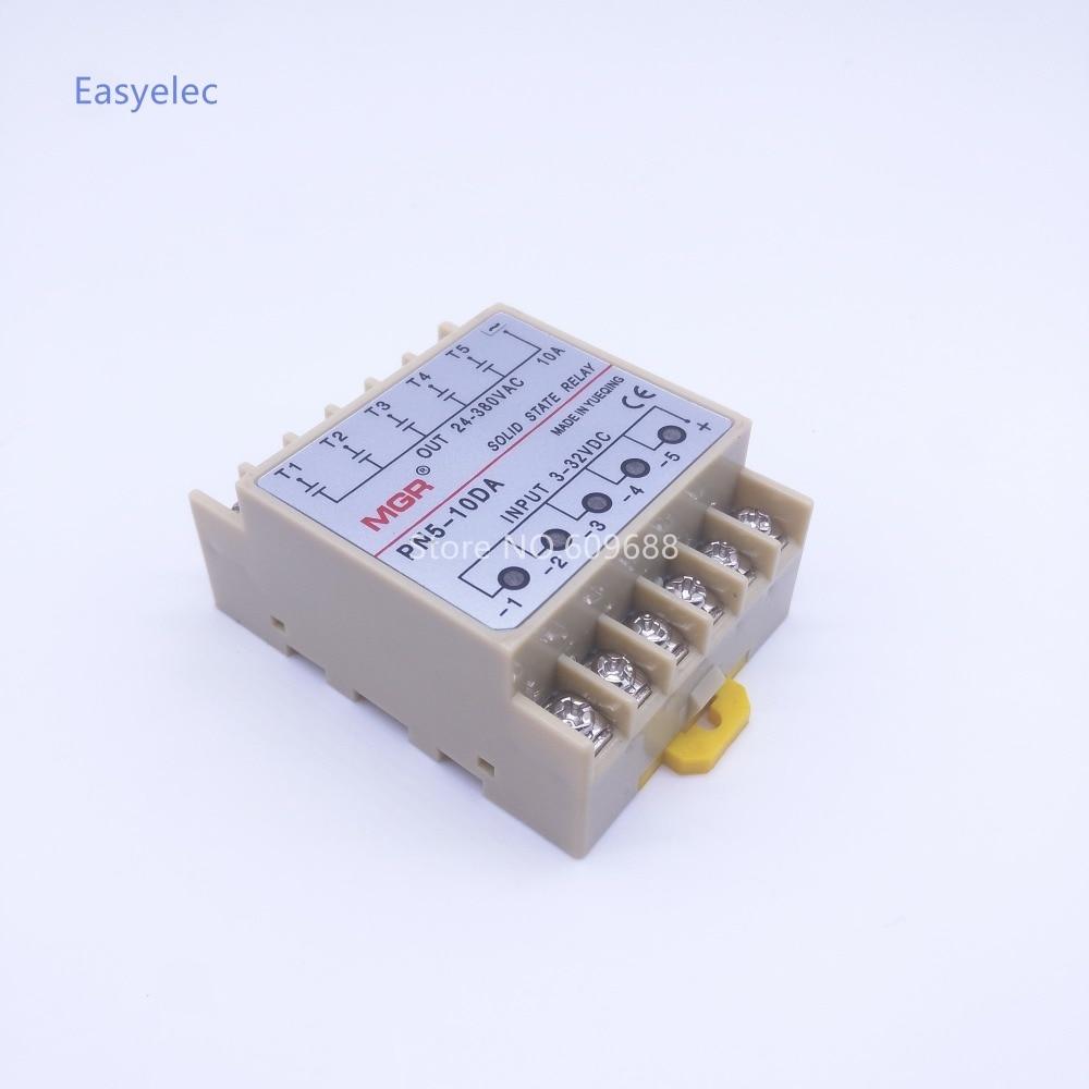 10da 5 Channel Din Rail Ssr Quintuplicate Five Input 332vdc Output Solid State Relay Manual 24380vac