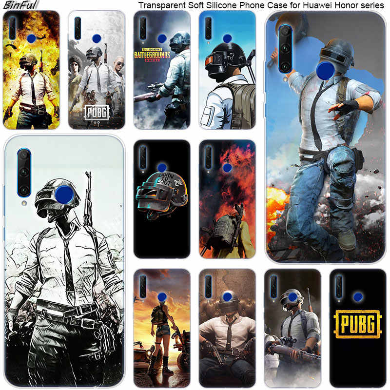 Hot pubg game Soft Silicone Phone Case for Huawei Honor 20 20i 10 9 8 Lite 8X 8C 8A 8S 7S 7A Pro View 20 Fashion Cover