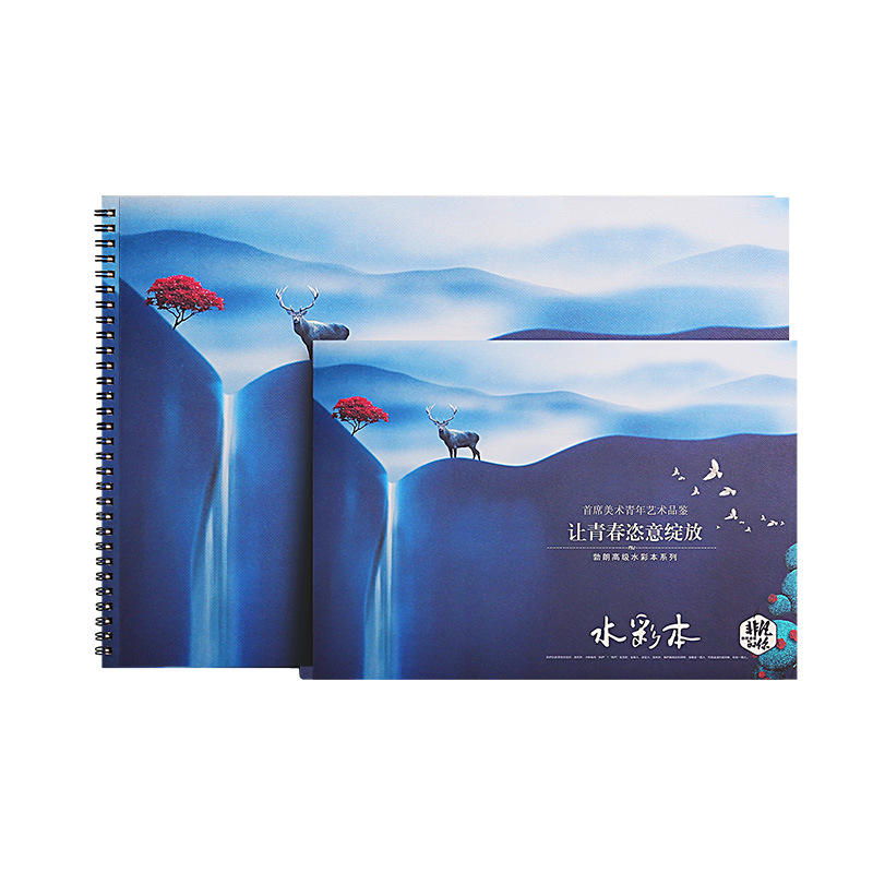 A4 Sketch Book Stationery Watercolor Paper Sketch Notepad For Painting Drawing Diary Journal Creative Notebook Gift 200gsm цена