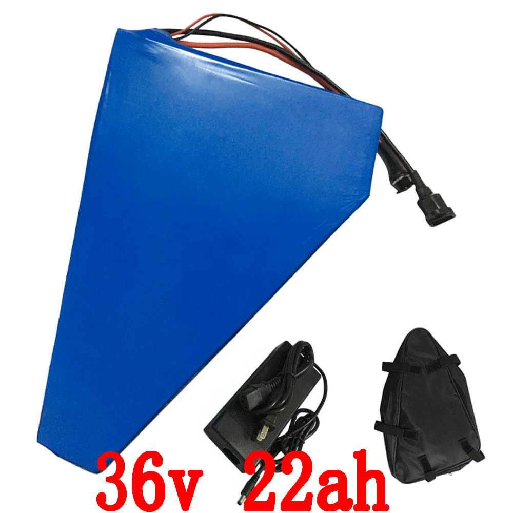 Free shipping 36v 22ah 1000W battery Electric Bike 36v lithium ion battery pack with PVC case with 30A BMS and 2A charger+Bag free shipping 48v 15ah battery pack lithium ion motor bike electric 48v scooters with 30a bms 2a charger