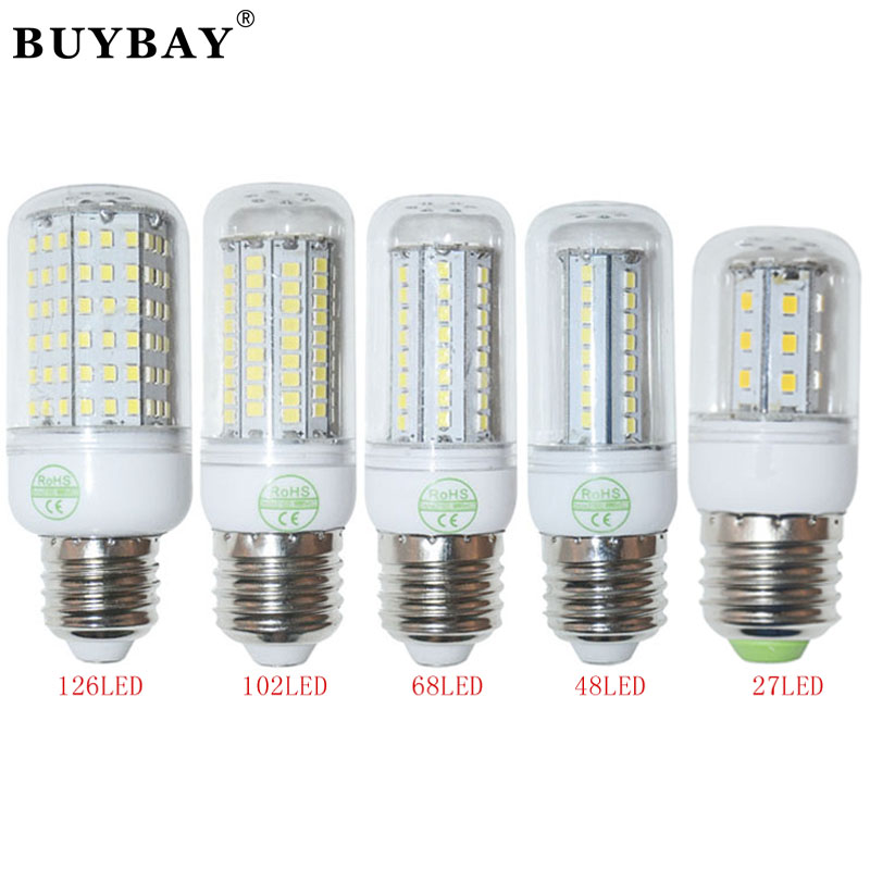 110v Led Light Bulb: E27 high power 220V/110V christmas lights SMD2835 led bulb lamp Warm White/  white,27 48 68 102 126LEDs 2835 SMD lampada led,Lighting