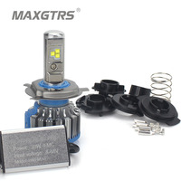 MAXGTRS H4 LED Motorcycle Headlight HS1 Bulb BA20D 30W 4800LM Flip Chip Moto Light Moped KMT