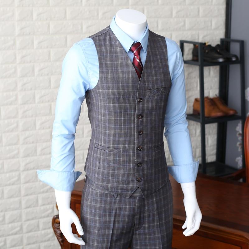 2018 New Fashion Suits Vests Slim Casual Suit Vest Male