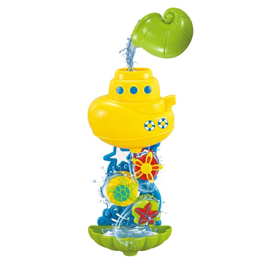 1 Set Fun Bath Toy Shower Spray+Water Waterwheel Bathtub for Bathroom Child Kid