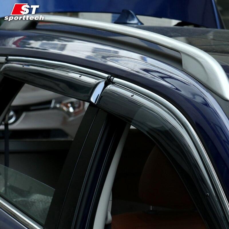 Smoke Window Visor cover trim Vent Shade Rain/Sun/Wind Guard car styling for NISSAN X-TRAIL Rogue 2014-2017 2018Awnings Shelters sunshade sun block for car side window black 65 x 38cm