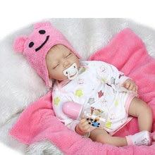 Kawaii 22inch Twins Baby Doll Silicone Reborn Doll 55CM BeBe Reborn Lifelike Realistic Doll For Kids Birthday Gift Brinquedos