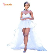 Sunzeus High Low Summer Beach Wedding Dresses Sweetheart