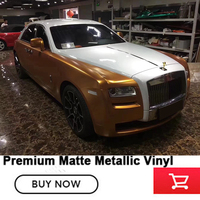 Metallic pearl metal cuprum vinyl wrapping film High grade polymeric calendared vinyl film with air release channels
