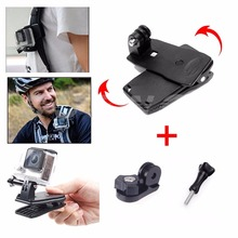 360 Degree Rotary Backpack Clip for GoPro Accessories Quick Clamp Clips Mount for SJCAM SJ4000 Xiaomi Yi Sport Action Camera 20