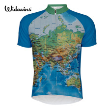 World map Cycling Jersey Maillot MTB bike clothing bicycle clothes Ropa De Ciclismo cycling wear Clothing 7065