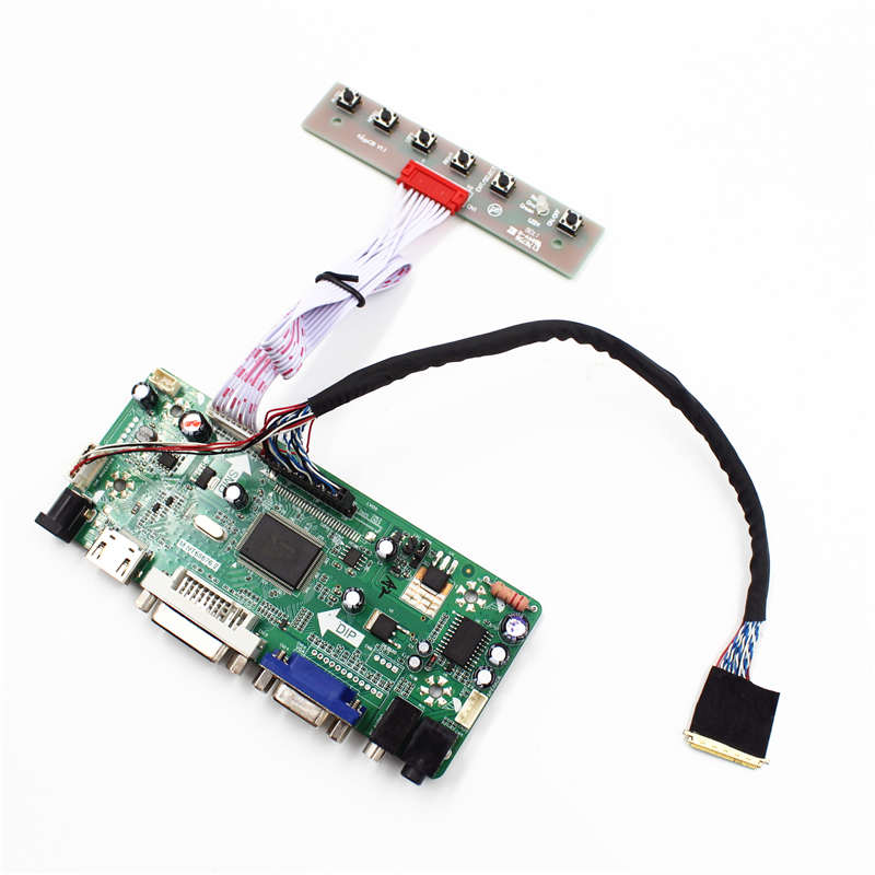 M.NT68676.2A Universal HDMI VGA DVI Audio LCD Controller Board for 14inch 1600x900 B140RW01 LED Monitor Kit for Raspberry Pi diy m nt68676 2a universal hdmi vga dvi audio lcd controller board for 14inch 1600x900 b140rw01 led monitor kit for raspberry pi