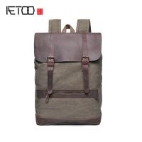 AETOO Shoulder Bag Men S Canvas Bundles Cowboy Large Capacity Men S Style Retro Backpack Bag