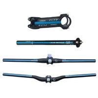 top usa FCFB FW blue carbon MTB handlebar bicycle seat post stem top cap gasket / mountain bike flat rise handlebar set