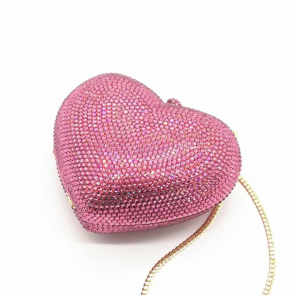 Женский ярко-розовый/красный/черный/белый Кристалл Клатч вечерние сумки Стразы металлические Minaudiere сумочки для невесты Свадебный Кошелек