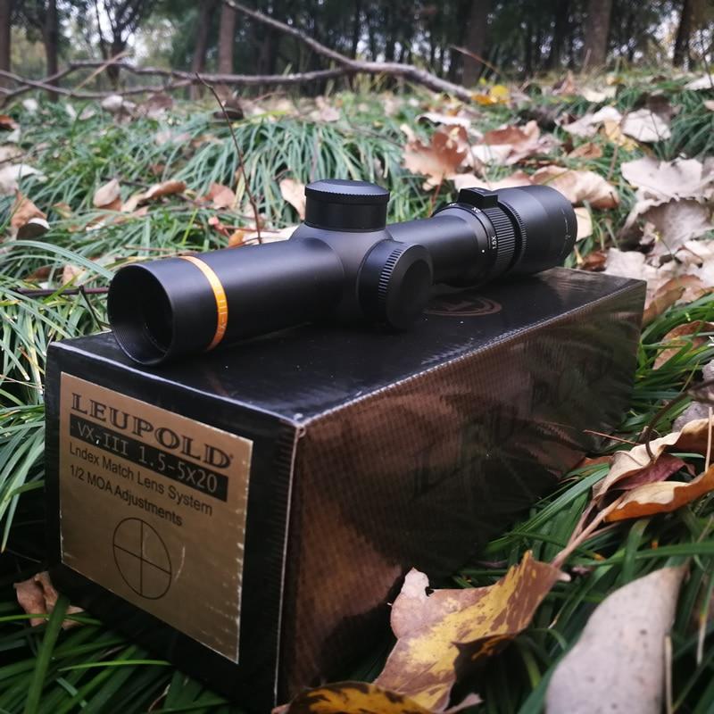 Leupold 1.5 5X20 Rapid Target Acquisition Hunting ShoRt Riflescoepes Mil dot Illuminated Tactical For Airsoft Gun Shooting