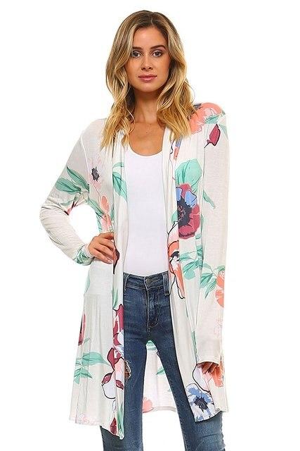 4dc10d4acd8fc Belva Autumn Maternity Chiffon Shirts Long Sleeved Floral Printed Cardigan  Loose Light Coat Pregnancy Tops Clothing 753