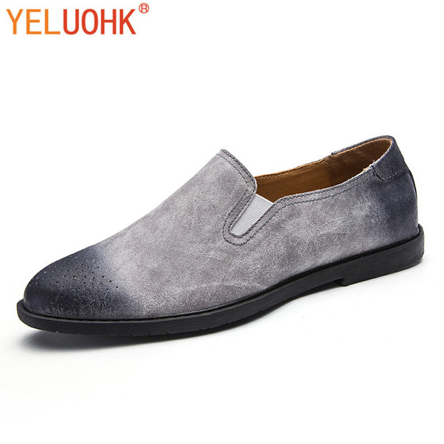 add163c7d2aa1 US $49.98 |Vintage Men Loafers Brand Men Shoes Casual Moccasins Men Loafers  Autumn Slip On -in Men's Casual Shoes from Shoes on Aliexpress.com | ...