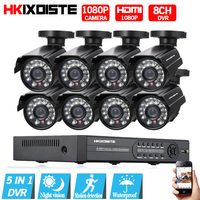 HDMI 1080P 1080N DVR 2 0MP 1080P Outdoor Indoor Home Security Camera System 8CH CCTV Video