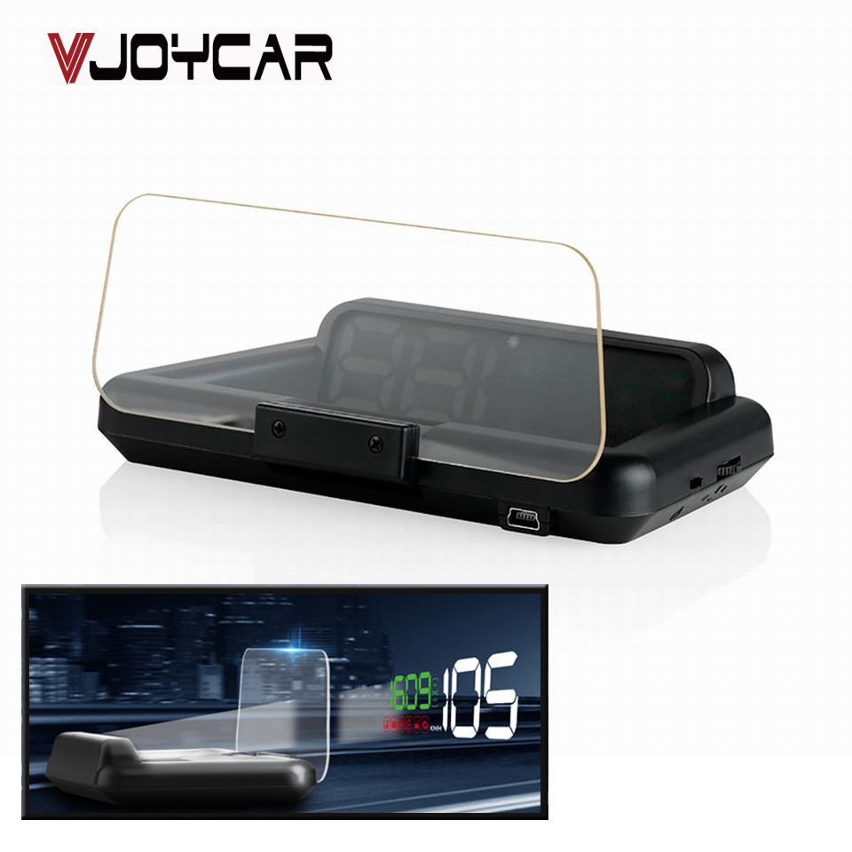 VJOYCAR OBD Smart Hud On-Board Computer Digital Car Speedometer Head Up Display With Holder Not Projector On The windshield 55 цены