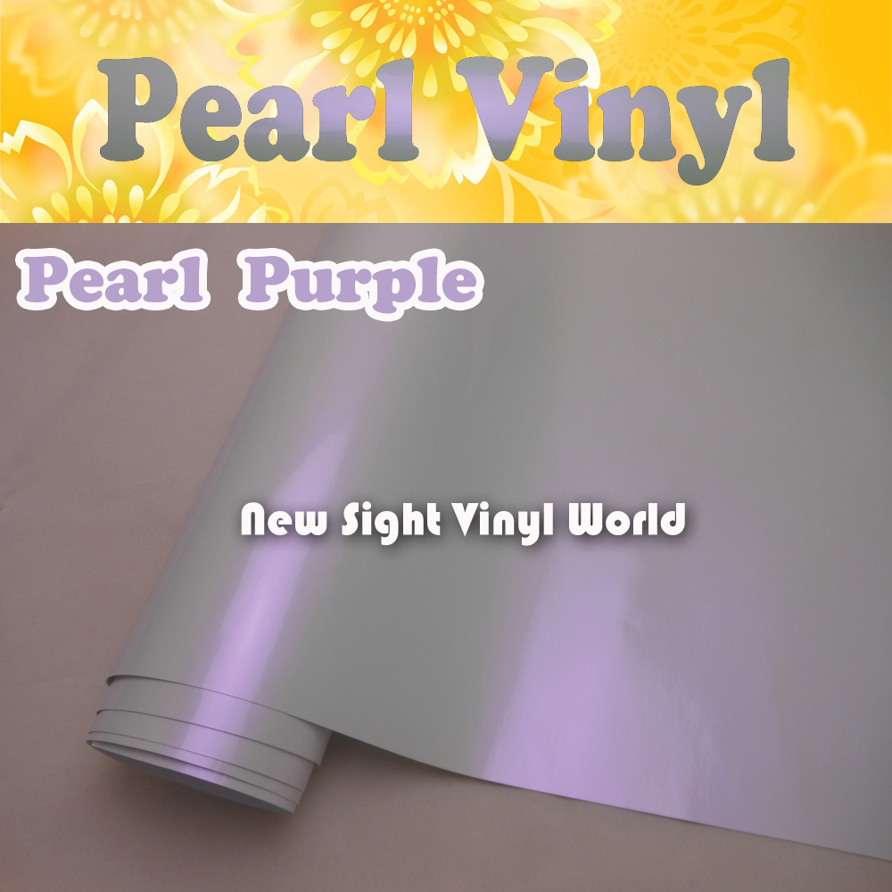 Premium Gloss Purple Pearlescent Car Wrap Vinyl Glossy Pearl Vinyl Film Air Free Car Wrapping Size:1.52*20M/Roll (5ft x 65ft)