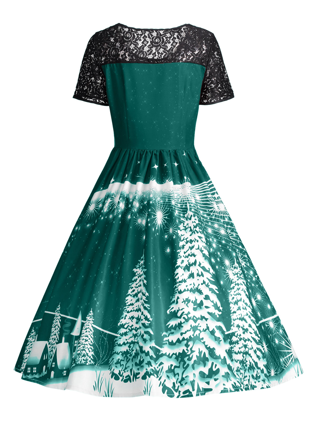 AZULINA Party Dresses Ugly Christmas Lace Panel Dress Women 2017 ...