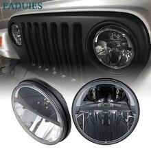 """FADUIES 1 пара черный """" дюймовый круглый 36 Вт светодиодный фары дальнего/ближнего света для Jeep Wrangler CJ JK TJ 2007"""