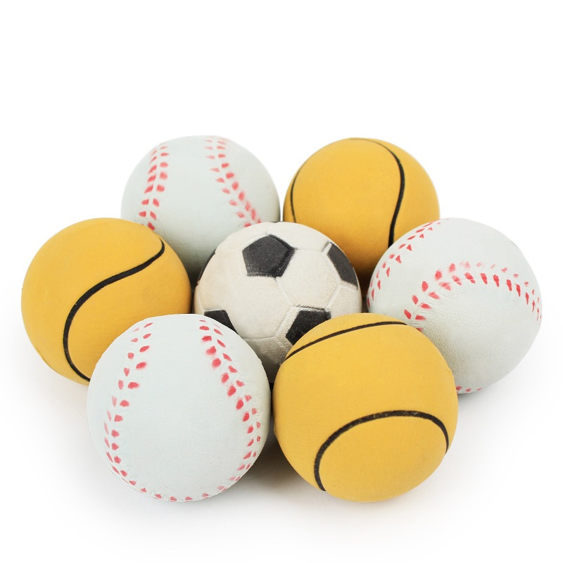 45mm Baseball Football Tennis Ball Dog Toys Pet Products For Dog Playing Funny Toys For Dog Puppy Large Dog Random Design