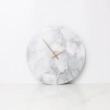 Marble Clock Minimalist Modern Design Wall Clocks Kitchen Art Personality Nordic Watch Home Decoration Accessories
