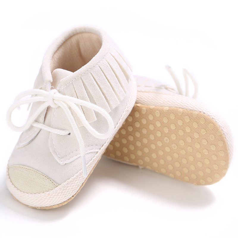 #13 PU Suede Leather Newborn Baby Boy Girl Baby Moccasins Soft Moccs Shoes Bebe Fringe Soft Soled Non-slip Footwear Crib Shoe
