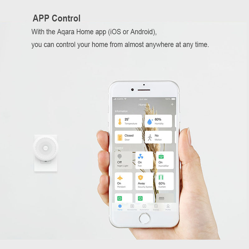 Image 4 - Original Xiaomi Mijia Aqara Hub , Mi Gateway2 with RGB Led night light Smart work with For Apple Homekit and aqara smart App-in Smart Remote Control from Consumer Electronics