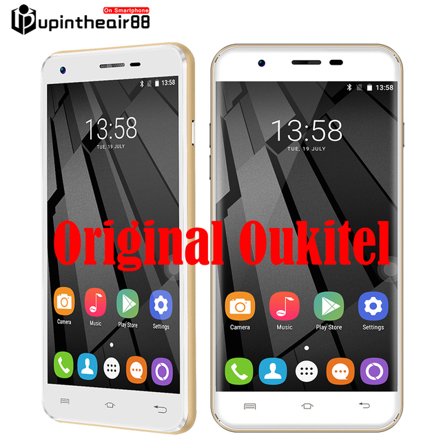 Original U7 Oukitel Plus Cell Phone 5.5 polegada 4G LTE Android 6.0 MT6737 Quad Core HD 2 GB RAM 16 GB ROM 1280*720 13.0MP impressão digital