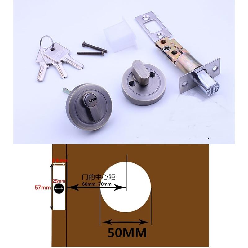 Door Lock with Deadbolt Keys 35-50mm Thick Door ThumbturnDoor Lock with Deadbolt Keys 35-50mm Thick Door Thumbturn