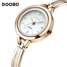 DOOBO Marca de Moda de Lujo Reloj de Cuarzo Mujeres de Las Señoras Relojes Casual Reloj de Pulsera de Acero Inoxidable Mujeres Vestido Relogio Regalo