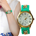 2016 New Womens Lady Sports Watch Silicone Rubber Gold Chain Quartz Analog Sports Lady Women Wrist Watch Women's Dress Clock