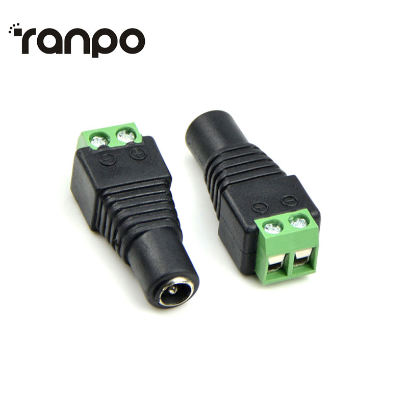 5.5 x 2.1mm DC Power Female Connector Plug Jack DC DC Hviero for <font><b>5050</b></font> 3528 2835 led strip LED Bar light CCTV DVR LED Strip Light image