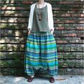 2017 New women's Big crotch pants harem pants casual trousers bloomers radish skorts pant meditation Boho print pants plus size