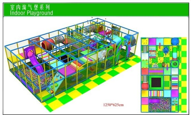 CE certified-indoor playground equipment/ naughty castle