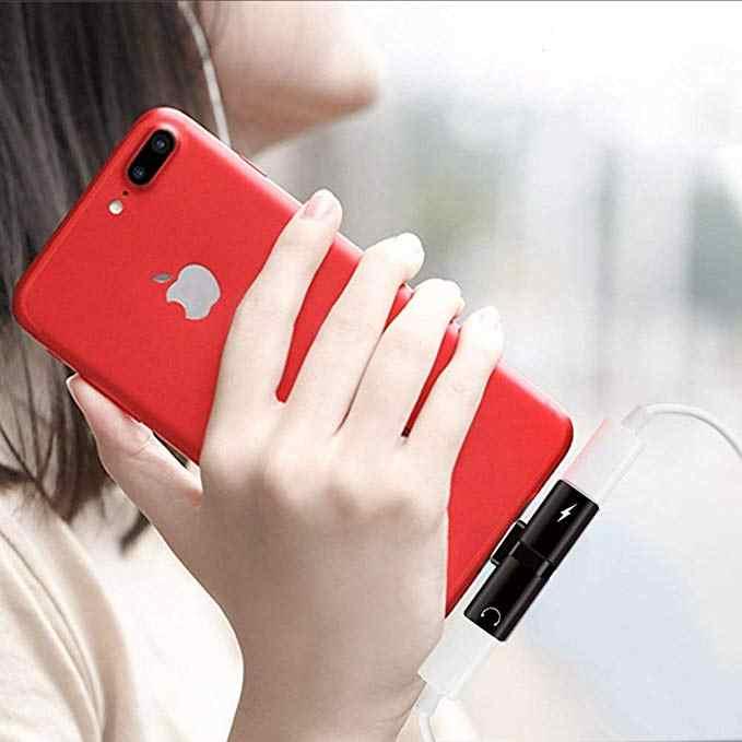 2 w 1 złącze Splitter ładowarka Audio adapter słuchawek przenośny dla IPhone 7 8 X dla jacka do słuchawek przewód AUX